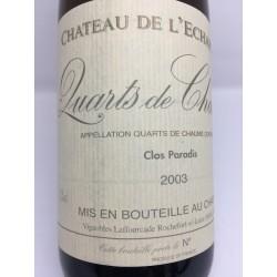 Quarts de Chaume L´Echarderie Clos Paradis 2003 50 cl.